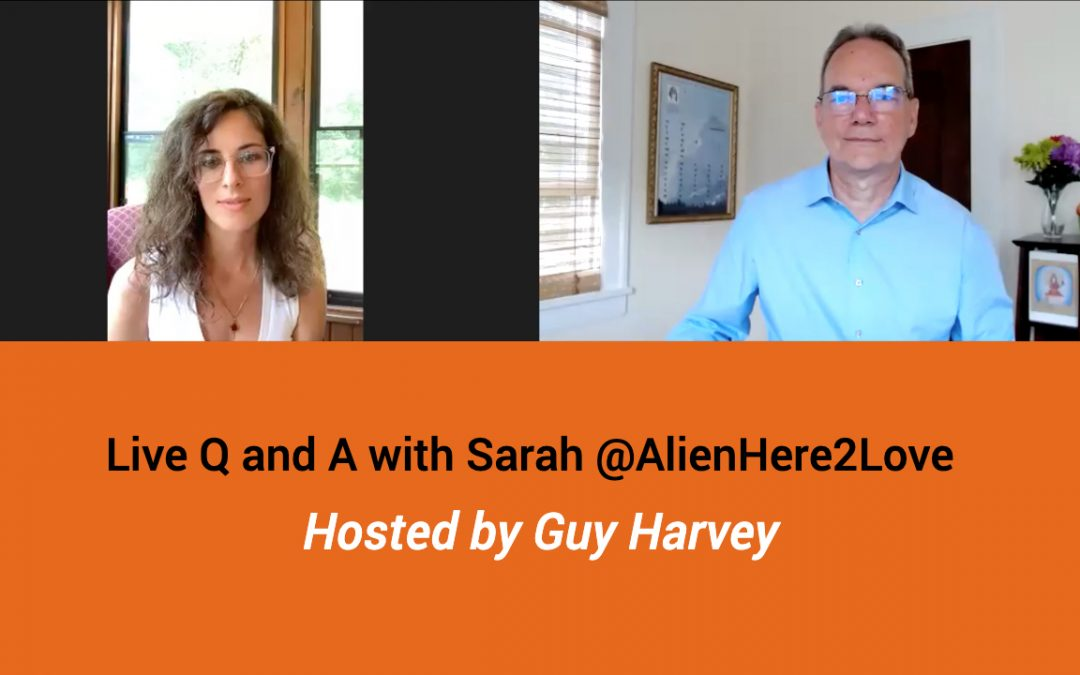 Live Q and A with Sarah @AlienHere2Love